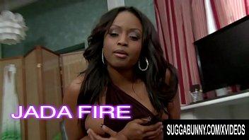 Well Endowed Chocolate Goddess Jada Fire Gets Her Black Pussy Railed