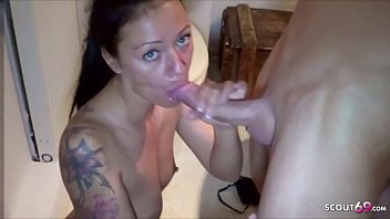 Real German Mom Cheating Toilet Fuck with Friend of Son on Party