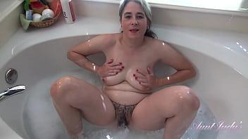 AuntJudys - Bath Time with 48yo Real Texas Amateur Grace