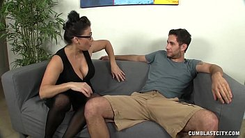 Huge-titted Milf Gets Splattered By A Young Man 4 min