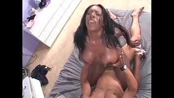 Horny slut moans as she gets a hard fuck on the couch