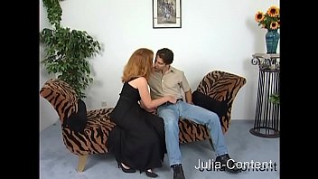 Redhead housewife fucked on the sex couch thumbnail