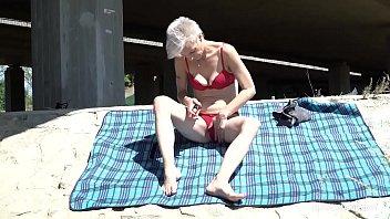 Skinny trapper licks short-hair granny under the bridge thumbnail