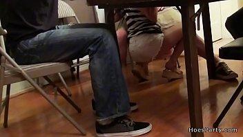 Hot babes fucking at poker night