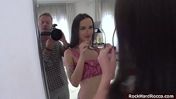Russian brunette gets analed by big cock 6 min