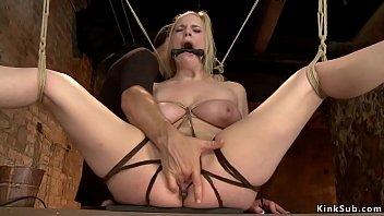 Master finger different slaves on hogtie