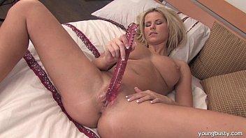Busty Sandra masturbating with dildo صورة
