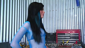 exposedlatinas - Andy San Dimas is an explosive latina brunette and gets fucked hard by the mechanic