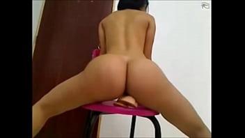 Hot ass riding on dildo on cam - xhotpornx.com