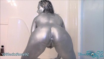 Vaginal body paint Silver booty shaking preview