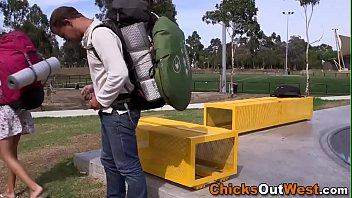 Aussie teen backpacker fucked