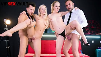 LOS CONSOLADORES - Sicilia, Nesty, Andy Stone & Pablo Ferrari - Hot Swinger Party With Two Horny Couples 14 min