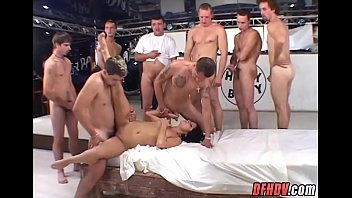 Drenched in 50 guys cum
