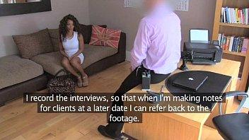 FakeAgentUK Inexperienced ebony amateur gets duped into fake sex casting 11 min