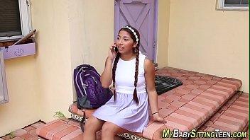 Latina babysitter jizzed 8 min