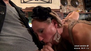 Pretty french babe banged hard like a dog in a bar 15 min