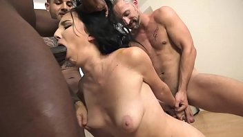 Bella Angel Vs 3 guys with gapes and double penetration NF023