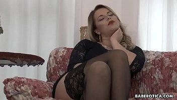 Solo, voluptuous blonde, Nikky Dream is gently masturbating, in 4K