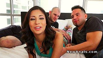 Horny Latina gets double penetration 7 min