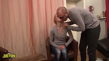 Beautiful blonde, anal casting