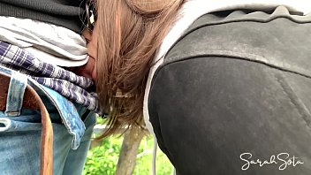 Public blowjob and fuck on a sightseeing tour - we nearly good caught