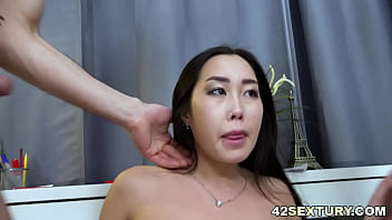 Petite asian banged and assfucked in a threesome