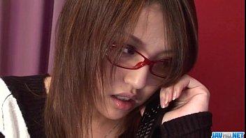 Cute Rino Mizusawa enjoys her new toy inside the pussy