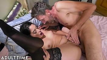 ADULT TIME - Cutie Vanessa Sky Is Fascinated With Pornstar Stepdad Steve Holmes' Big Cock