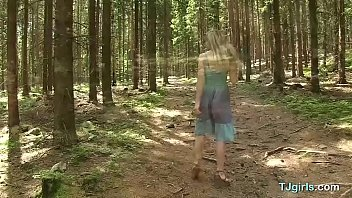 Steamy Solo Masturbation Show in the Woods thumbnail