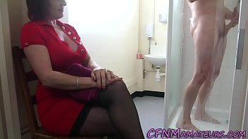 Busty ladies in tight fitting clothing - Spying cfnm mature lady