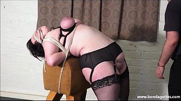 Amateur Bondage Babe Emmas Bbw Rope Works And Blindfolded Breast Bondage Of Tied Submissive In Homemade Fetish