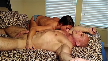 Alexis Rain licks my chest and armpits