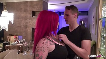 Redhead German Wife Cheating his Husband at Overnight