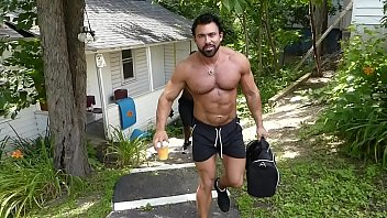 Gay muscle movie clip Barebacking muscle beasts
