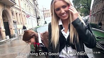 Russian schoolgirls having threesome 7 min