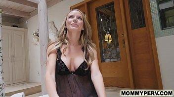 Hot step mom gives son a morning blowjob
