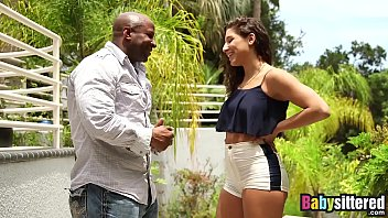 Flirting with danger sex Abella danger gagging on big black dick before being fucked