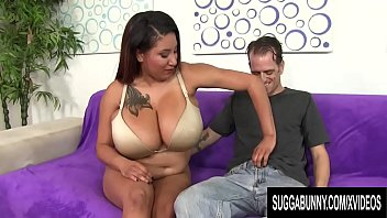 Mega Boobed Black Tart Danni Lynne Makes a Skinny White Guy Cum thumbnail