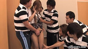 Terrific Asian manager getting fucked by the boys hard