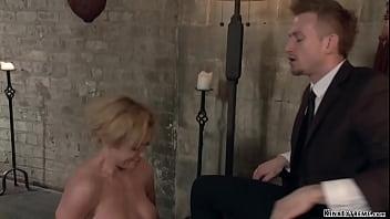Big cock gimp anal bangs tied MILF
