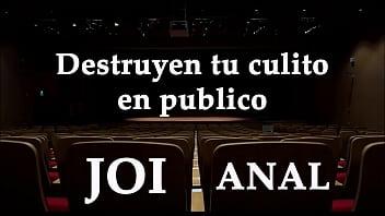 Te destruyen el culo en publico. JOI Anal en español.