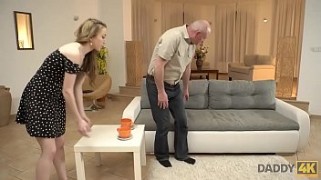DADDY4K. Slender Jessi is happy to get closer to young man's father