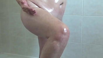 mature couple in the bathroom