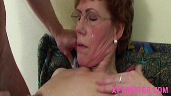 Granny sex hairy old saggy - Wet horny mature granny with slim bitch cunt taking the stepsons cock deep mouth