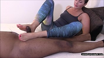 Footjob for big black dick @Footjobactor