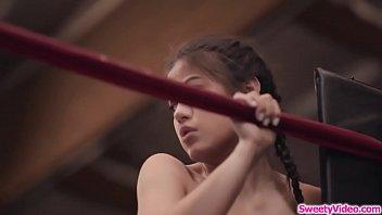 Lesbian jiu jitsu expert fucks asian gf