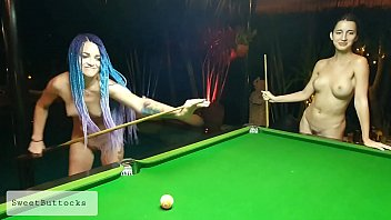 Two naked shameless sluts play billiards 10分钟