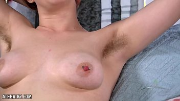 Apricot Pitts opens up her hairy pussy for you