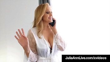 Mom gives boy a hand job - Step-mom julia ann stuffs her muff with step-sons cock