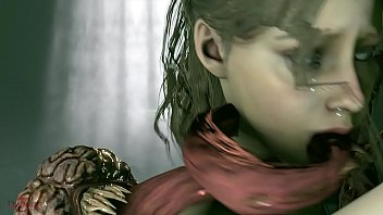 Image: RESIDENT EVIL 2 REMAKE: Licker & Claire Redfield